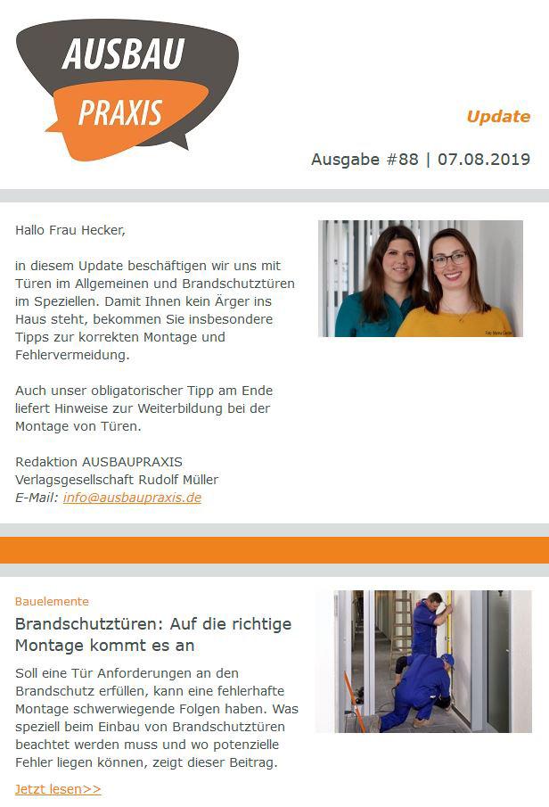 AusbauPraxis Branchennewsletter