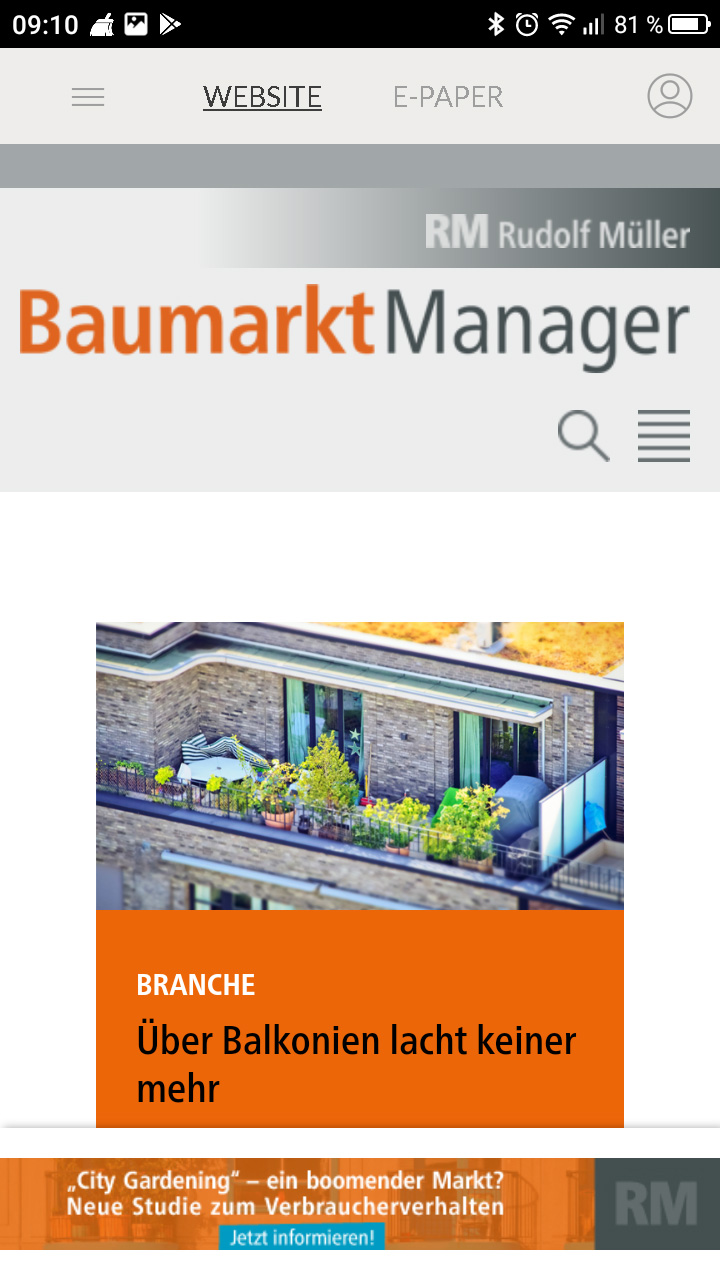 BaumarktManager App