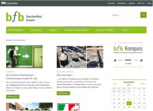 bfb barrierefrei bauen Webseite